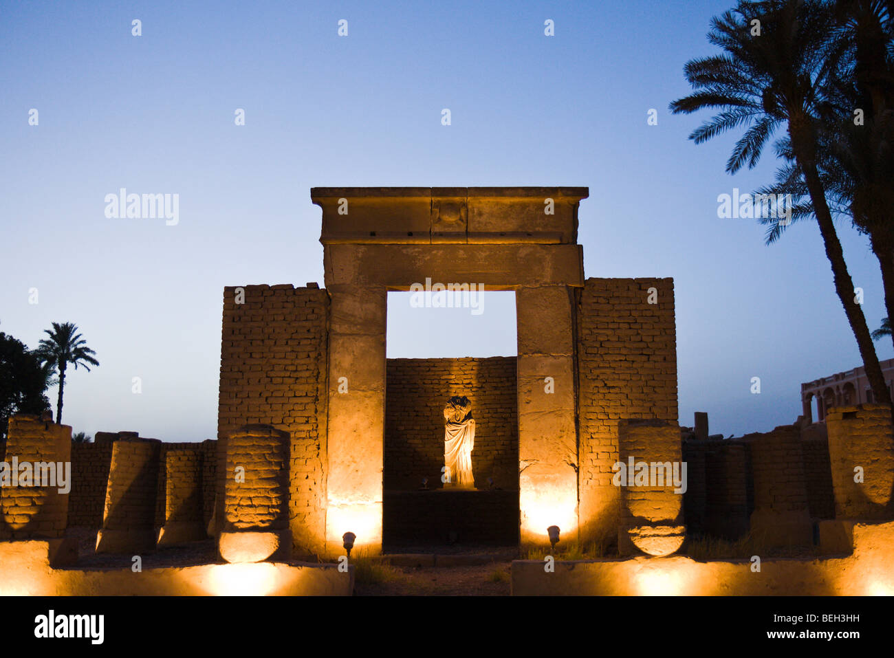 Serapis Chapell at Luxor Temple, Luxor, Egypt - Stock Image