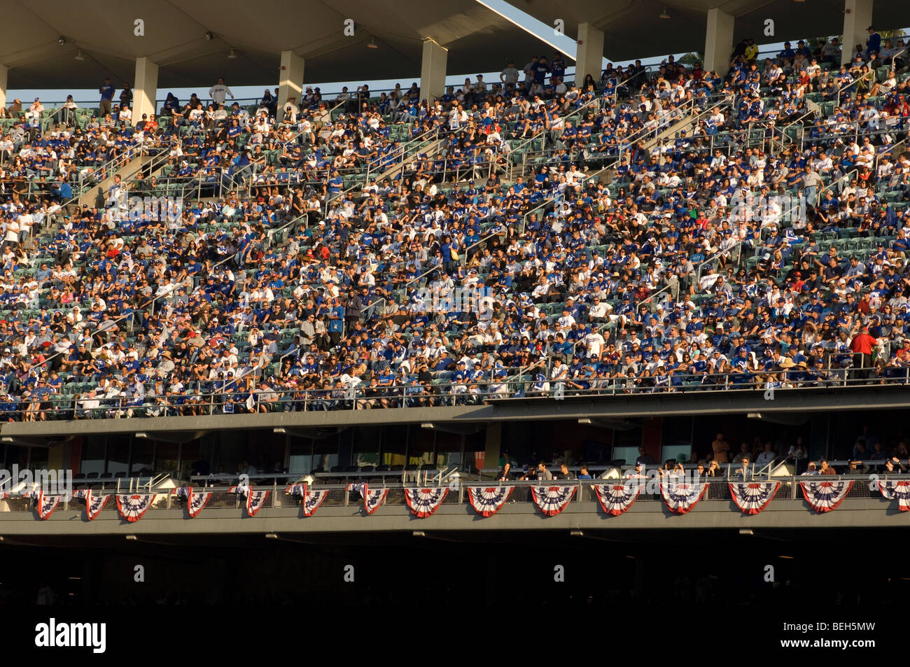 Fans at  Dodger Stadium - Stock Image