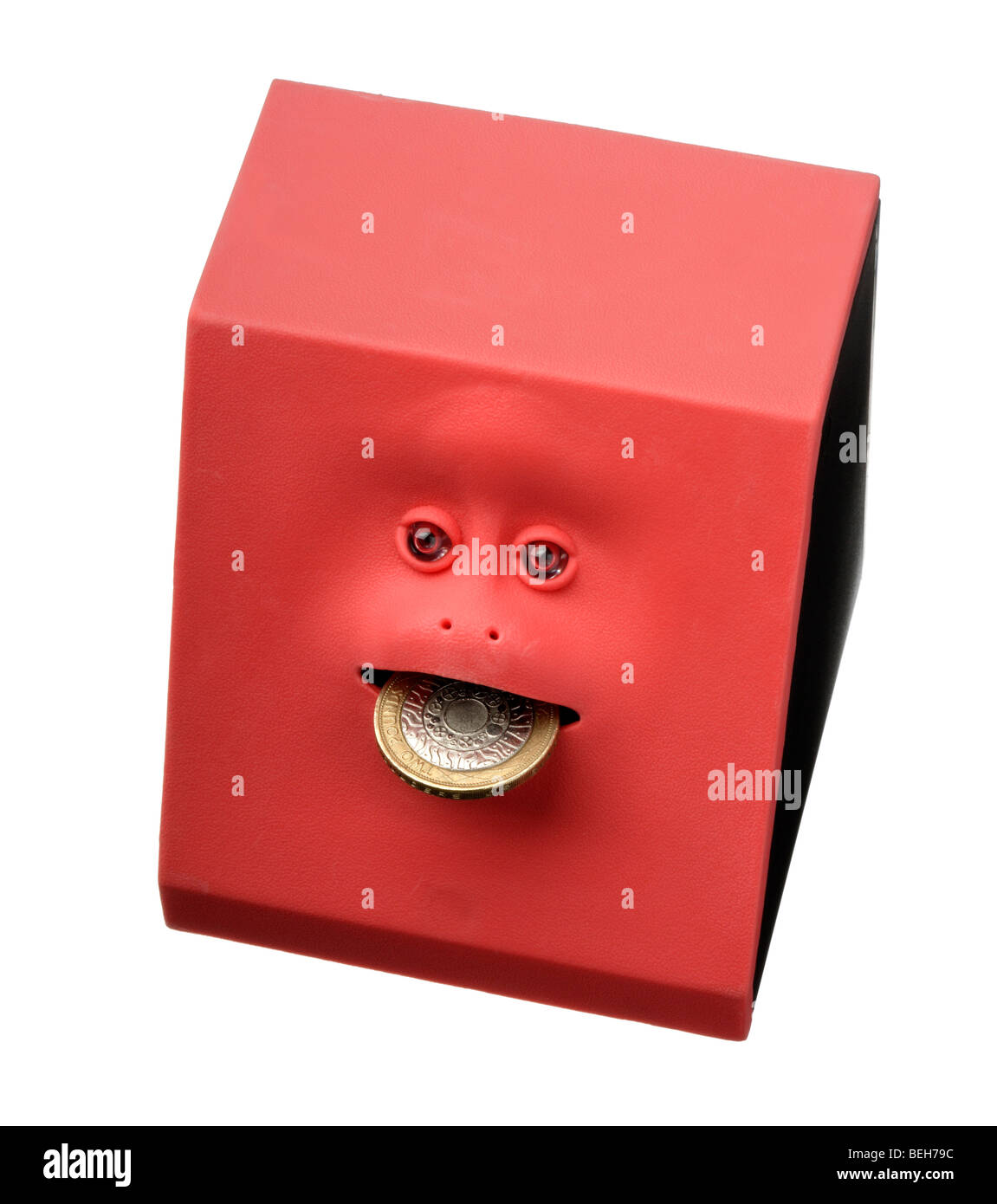 coin eating savings box toy - Stock Image
