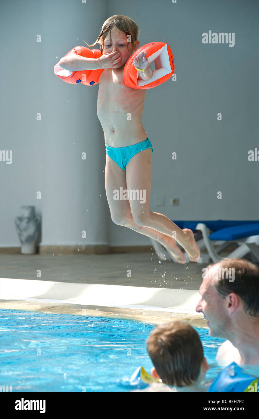 Tunesia, Djerba, Midoun, swimminpool of all inclusive - Stock Image