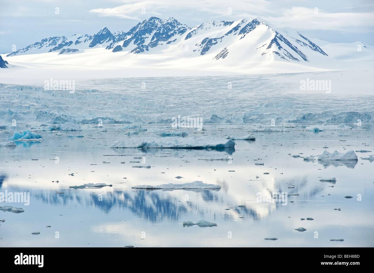 Spitsbergen, Svalbard, 14th of July glacier - Stock Image