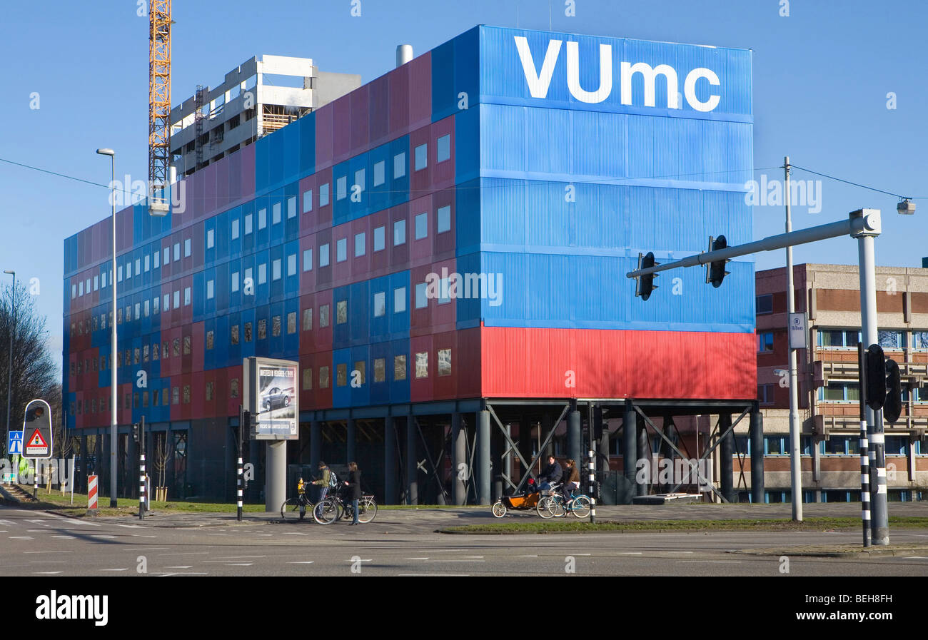 emergency housing to create necessary office space at the university medical centre n Amsterdam. - Stock Image