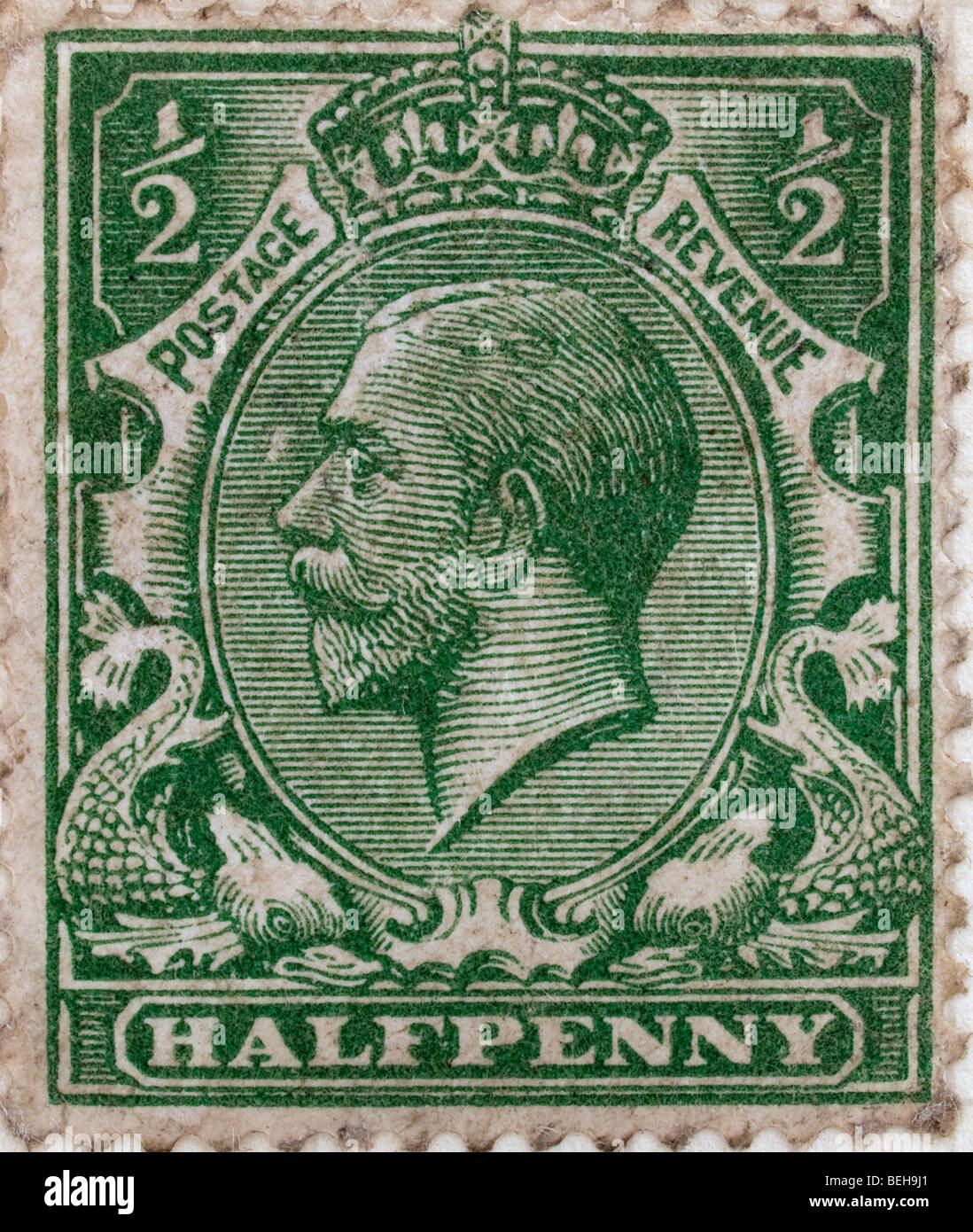 Halfpenny Green Stamp Stock Photo 26196297 Alamy