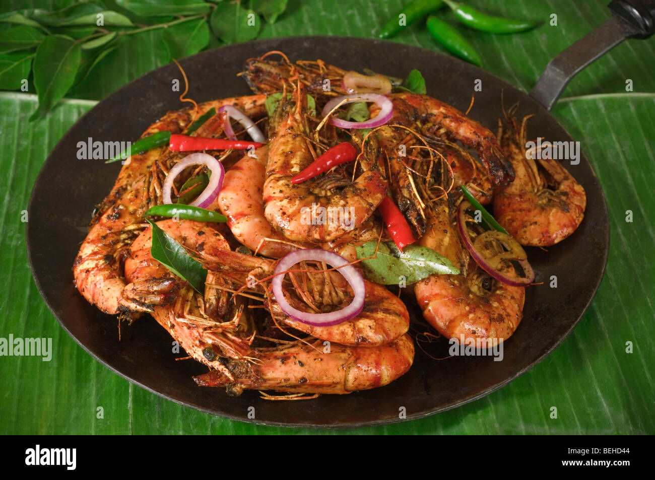 Shrimp Or Prawns Fry South India Food Stock Photo 26199044 Alamy