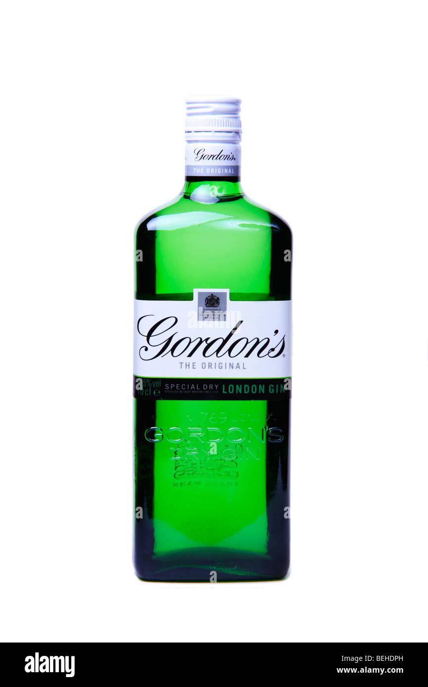 Bottle of Gordon's Gin - Stock Image