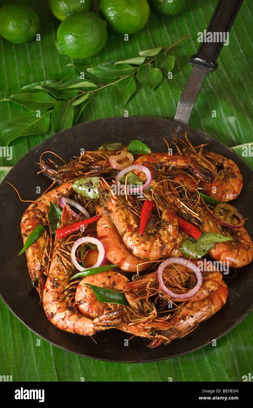 Shrimp Or Prawns Fry South India Food Stock Photo 26199897 Alamy