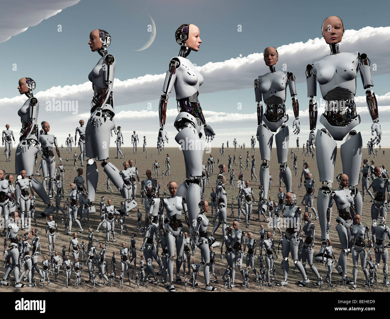 Over Crowding A 3D Conceptual Image - Stock Image