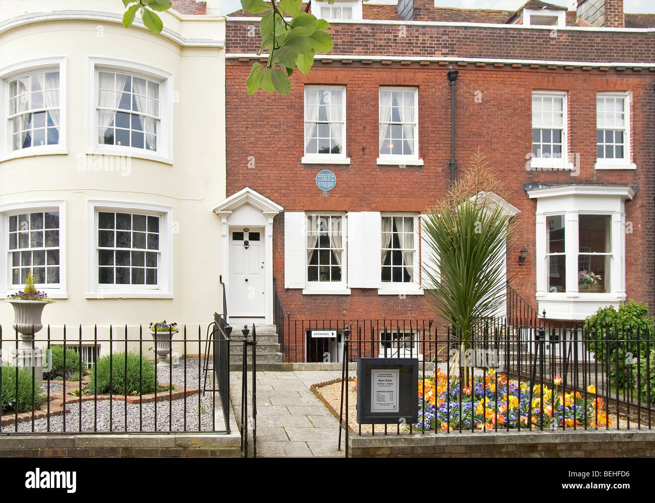 Charles Dickens Birth Place in Portsmouth, Hampshire, England, UK - Stock Image