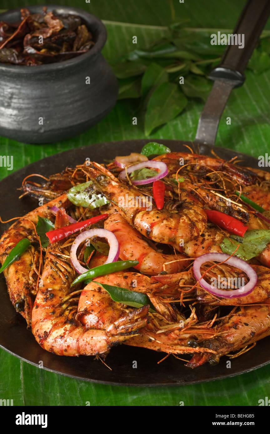 Shrimp Or Prawns Fry South India Food Stock Photo 26201593 Alamy