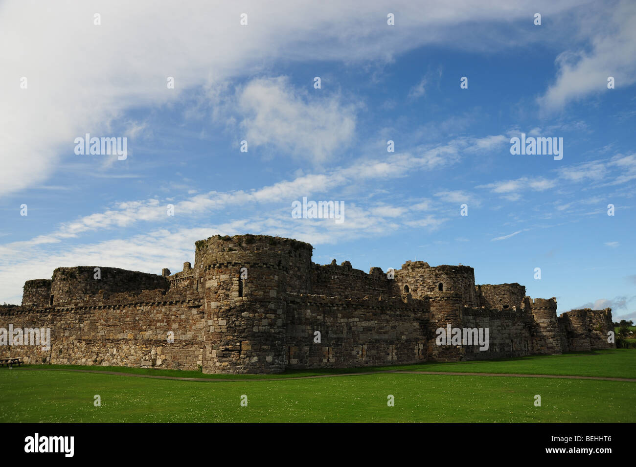 Beaumaris Castle - Stock Image