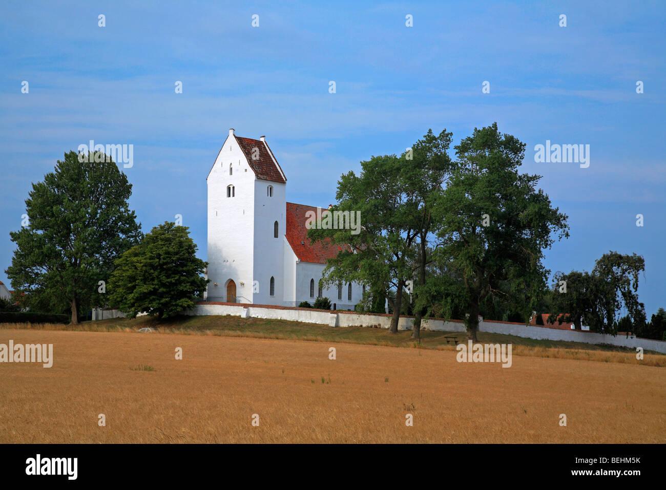 Kalvehave church, Sjaelland, Denmark - Stock Image
