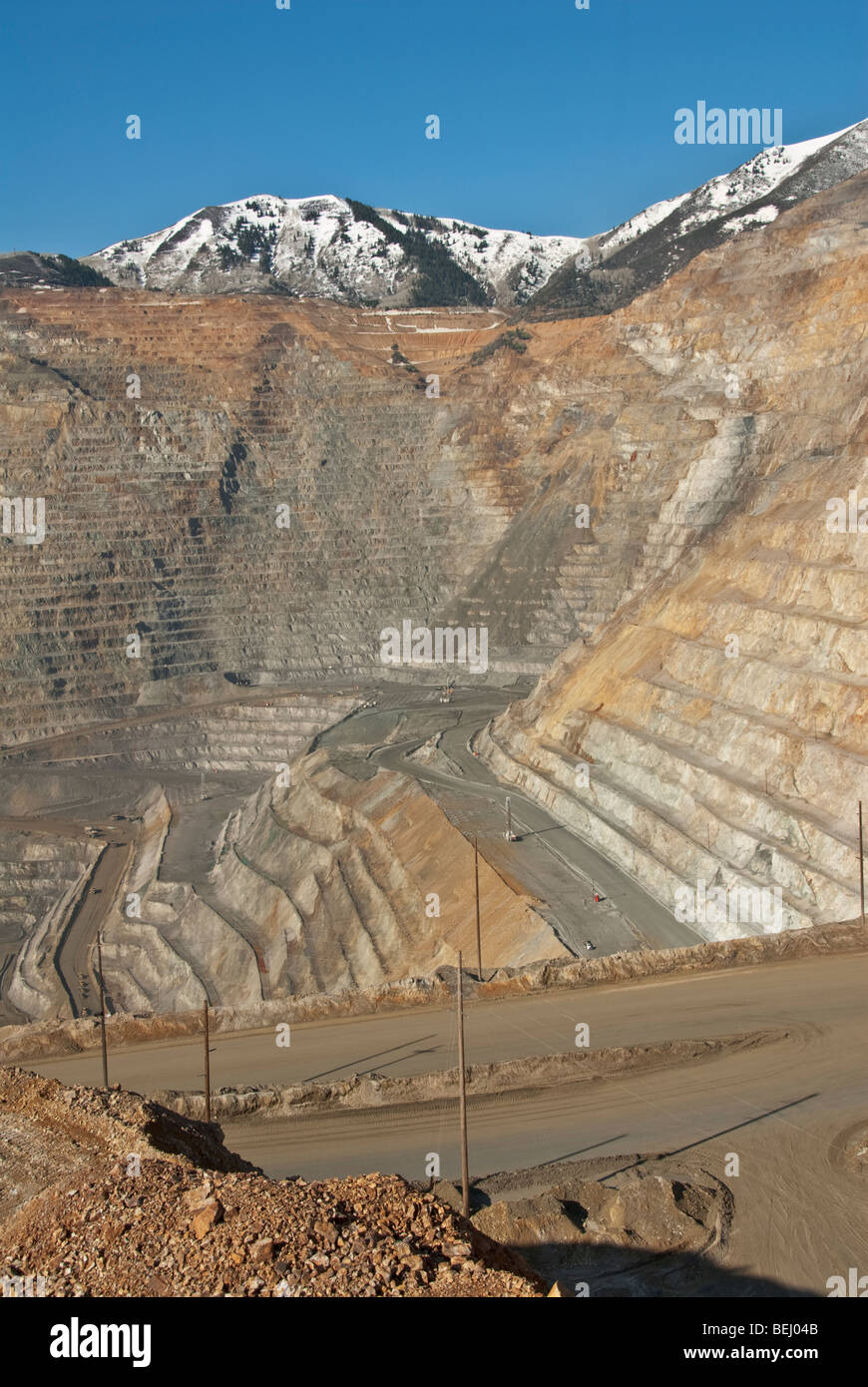 Utah Kennecott Utah Copper Bingham Canyon Mine world's largest man-made excavation visitor center overlook Stock Photo