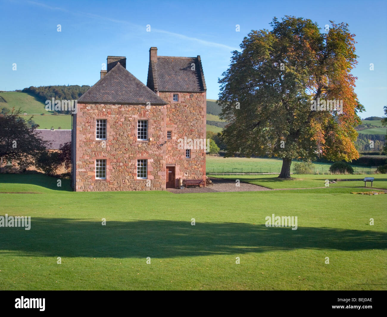 The Commendator's House Museum at Melrose Abbey in the Scottish Borders - Stock Image