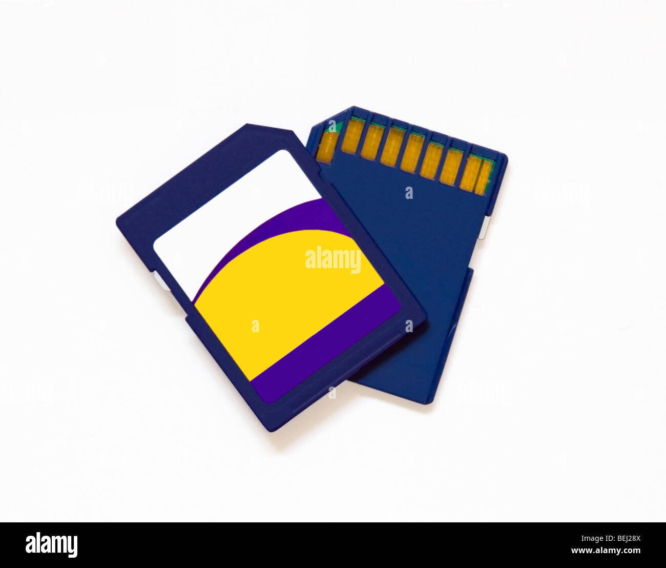 2 digital camera SD cards - Stock Image