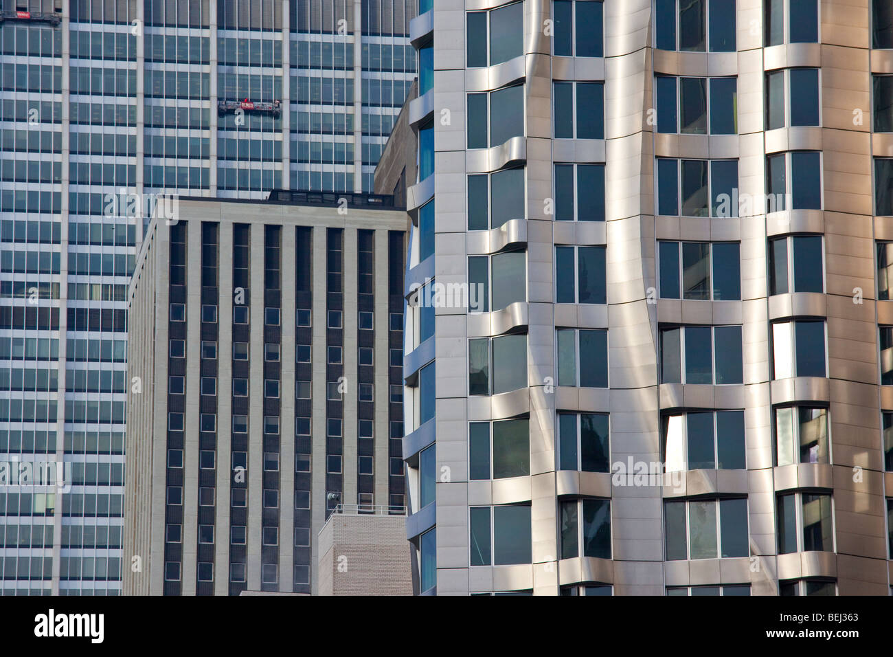 Beekman Tower Frank Gehry Apartment Building in Manhattan New York City - Stock Image