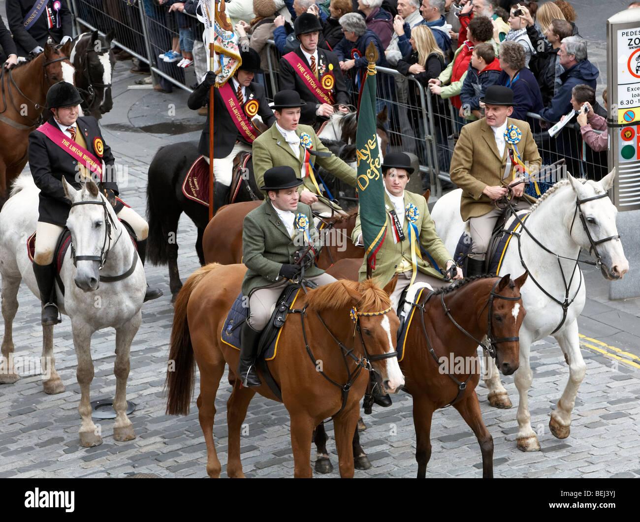 The Riding Of The Marches Edinburgh 2009 Scotland UK - Stock Image