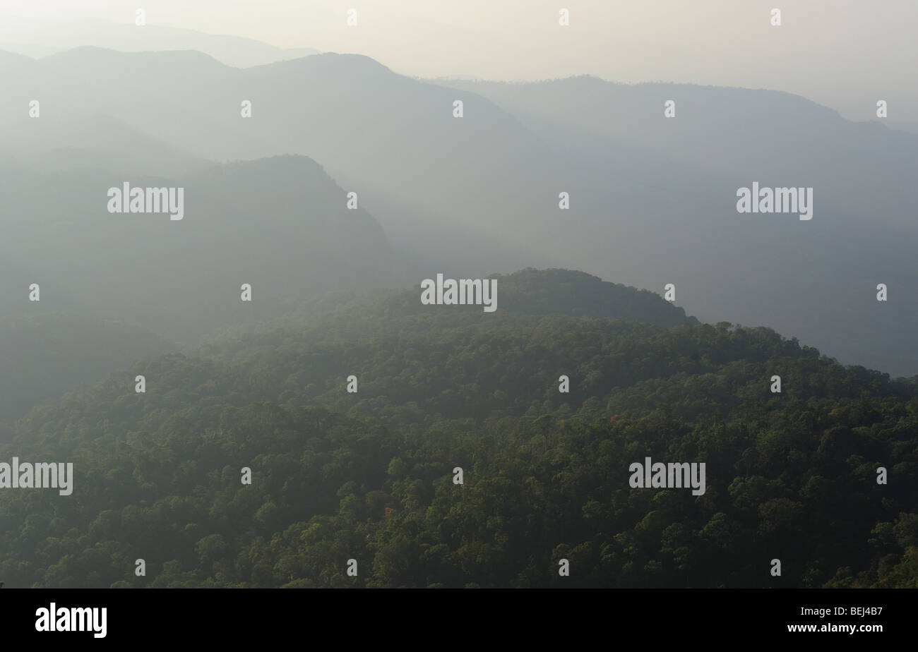 Western Ghats Mountain Ranges - Stock Image