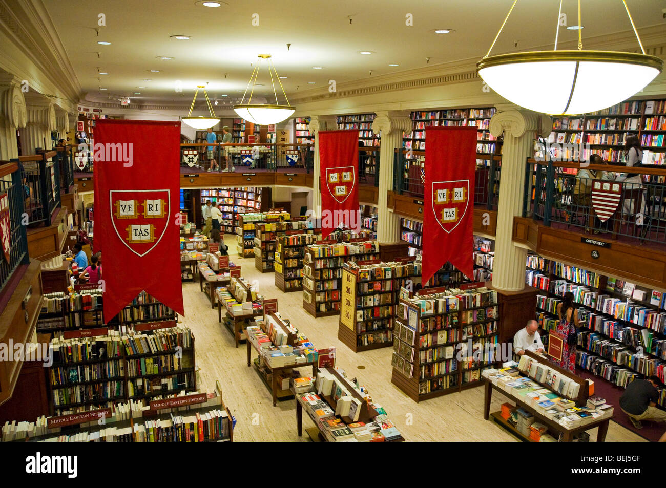 Harvard Bookstore on Harvard square Cambridge, Massachusetts - Stock Image