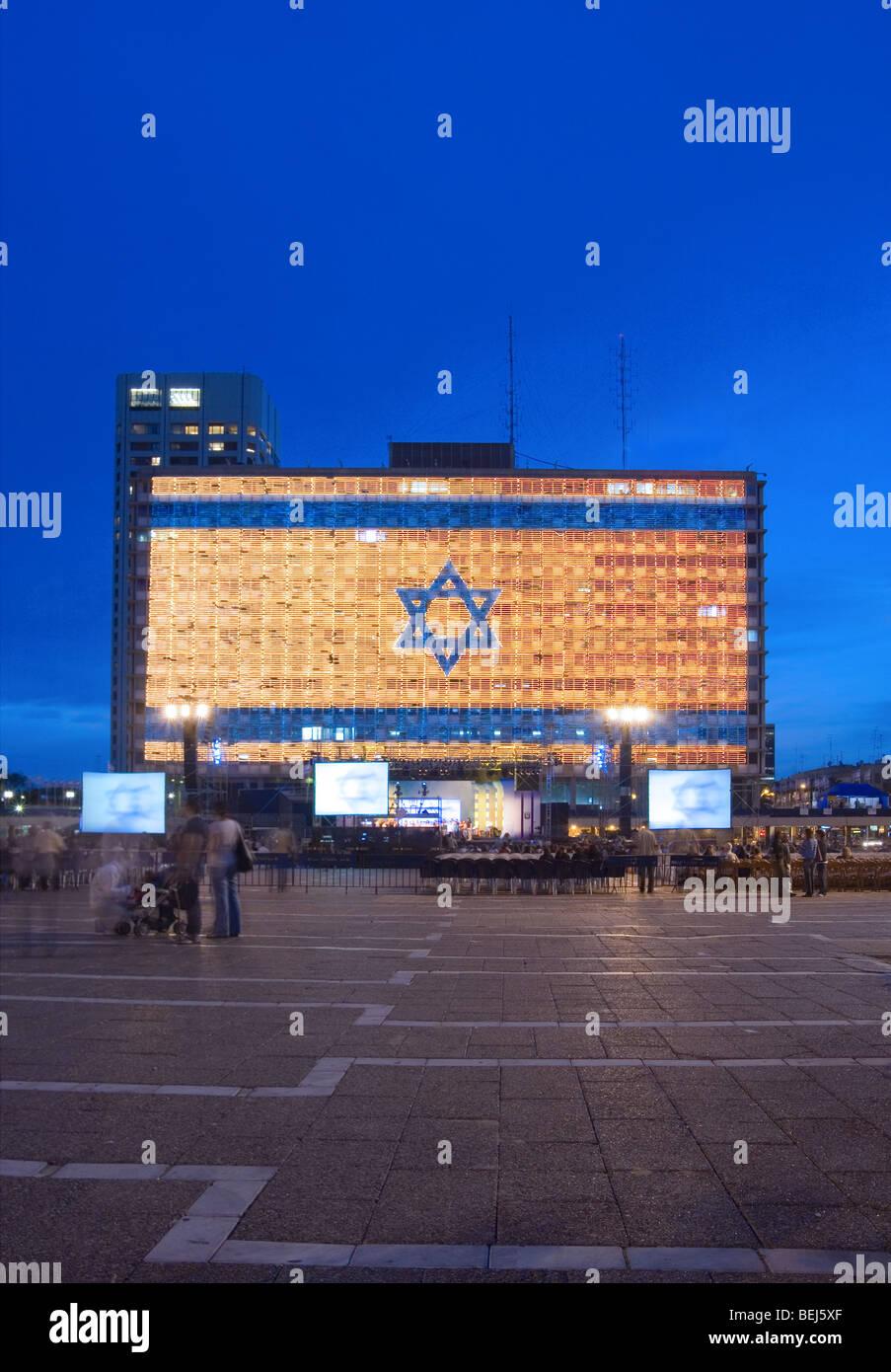 Flag Of Tel Aviv Stock Photos & Flag Of Tel Aviv Stock