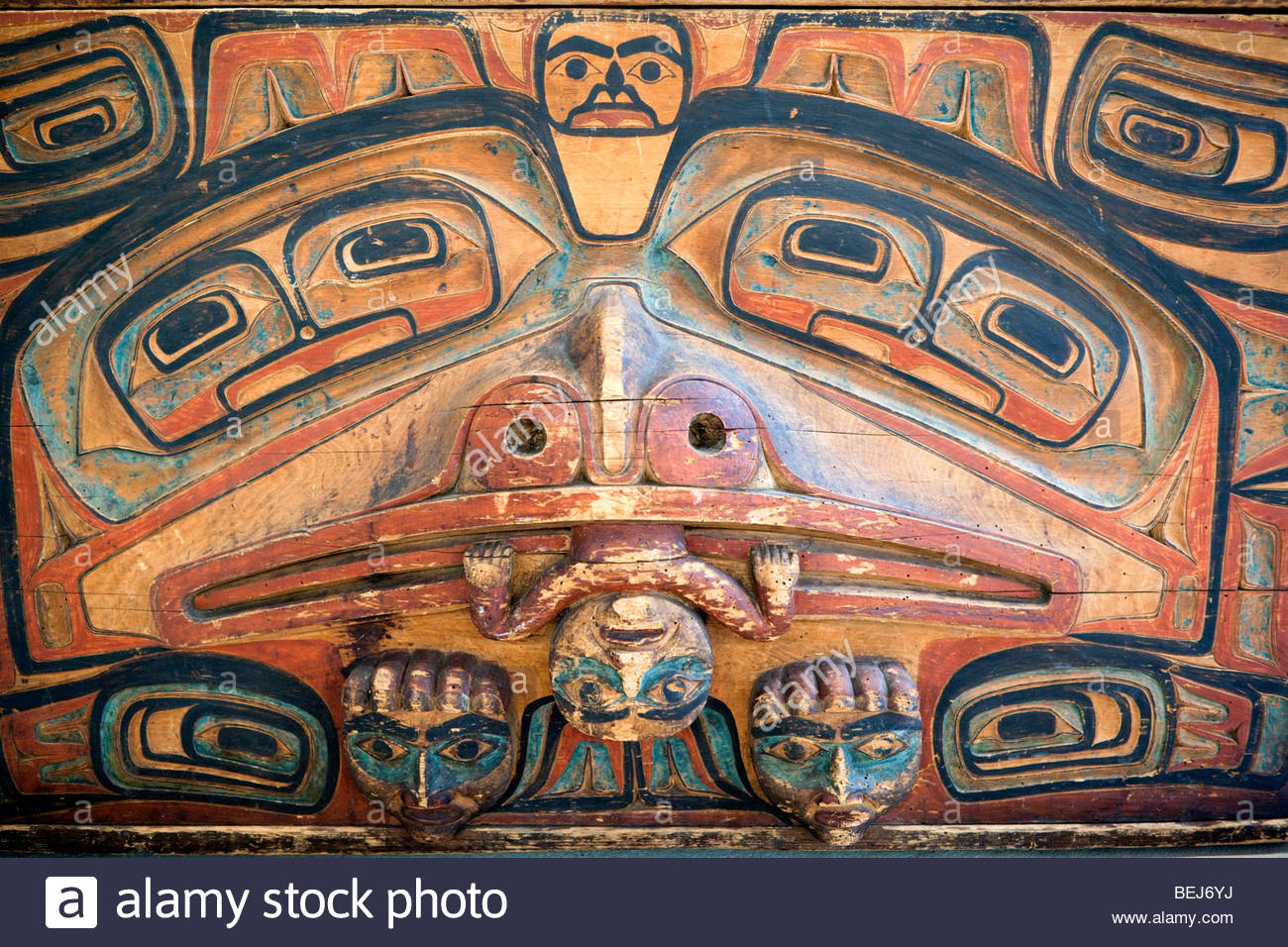 Haida Art at Museum of Anthropology, Vancouver, B.C. - Stock Image
