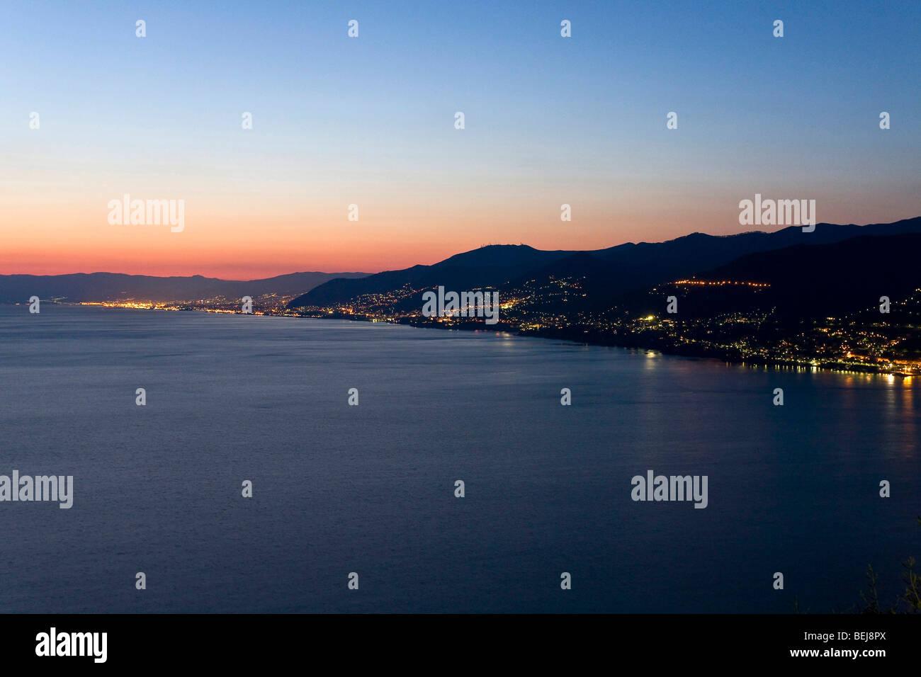 Landscape from S. Rocco di Camogli, Ligury, Italy - Stock Image