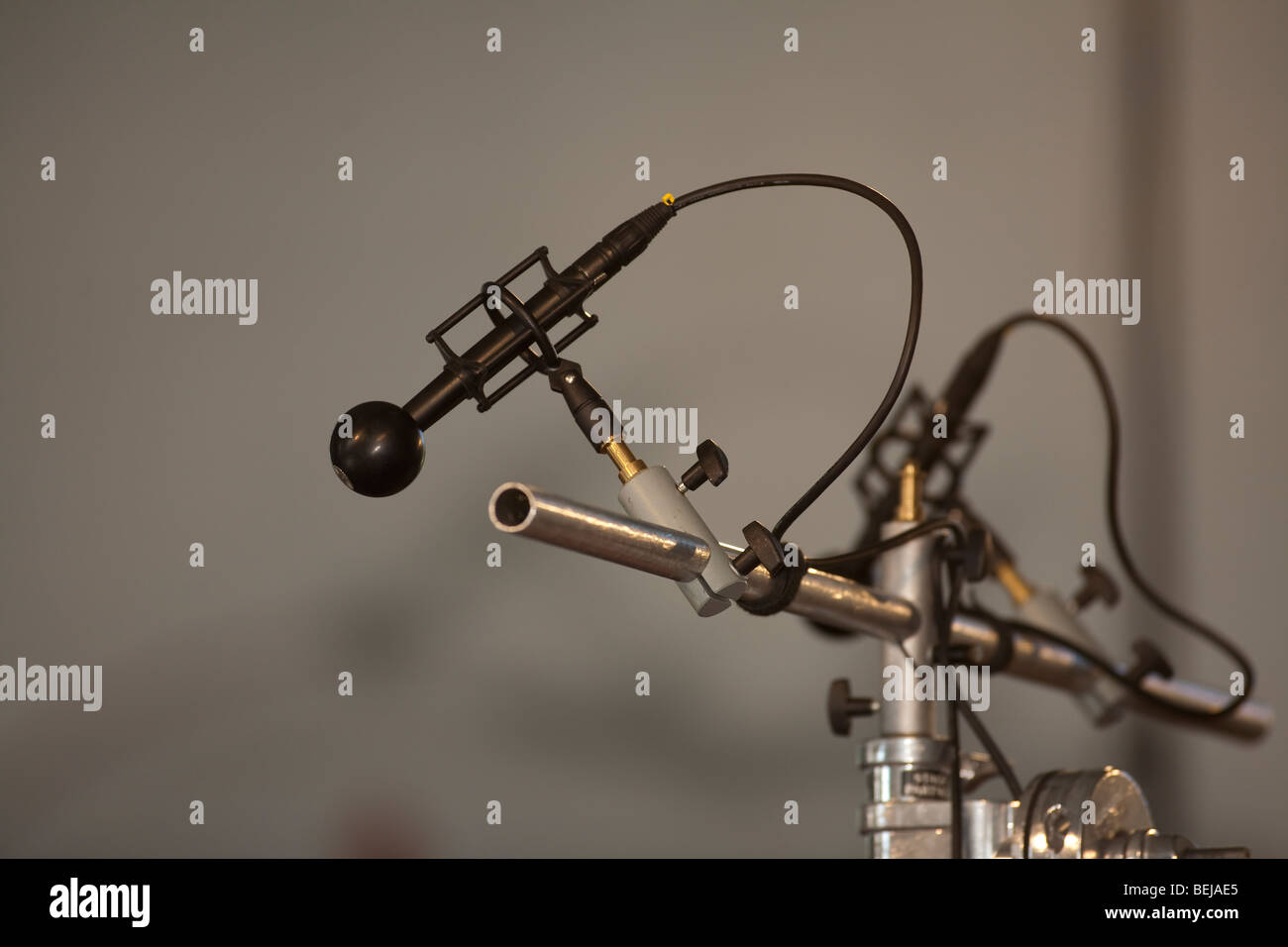recording session sound recording microphones - Stock Image