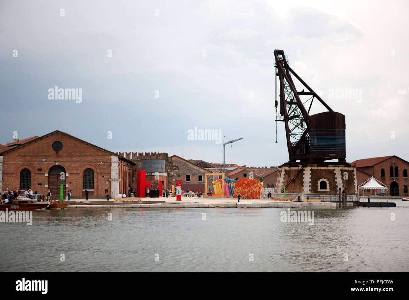 Arsenale, 53rd Biennial Exhibition of Modern Art, Venice, Veneto, Italy - Stock Image