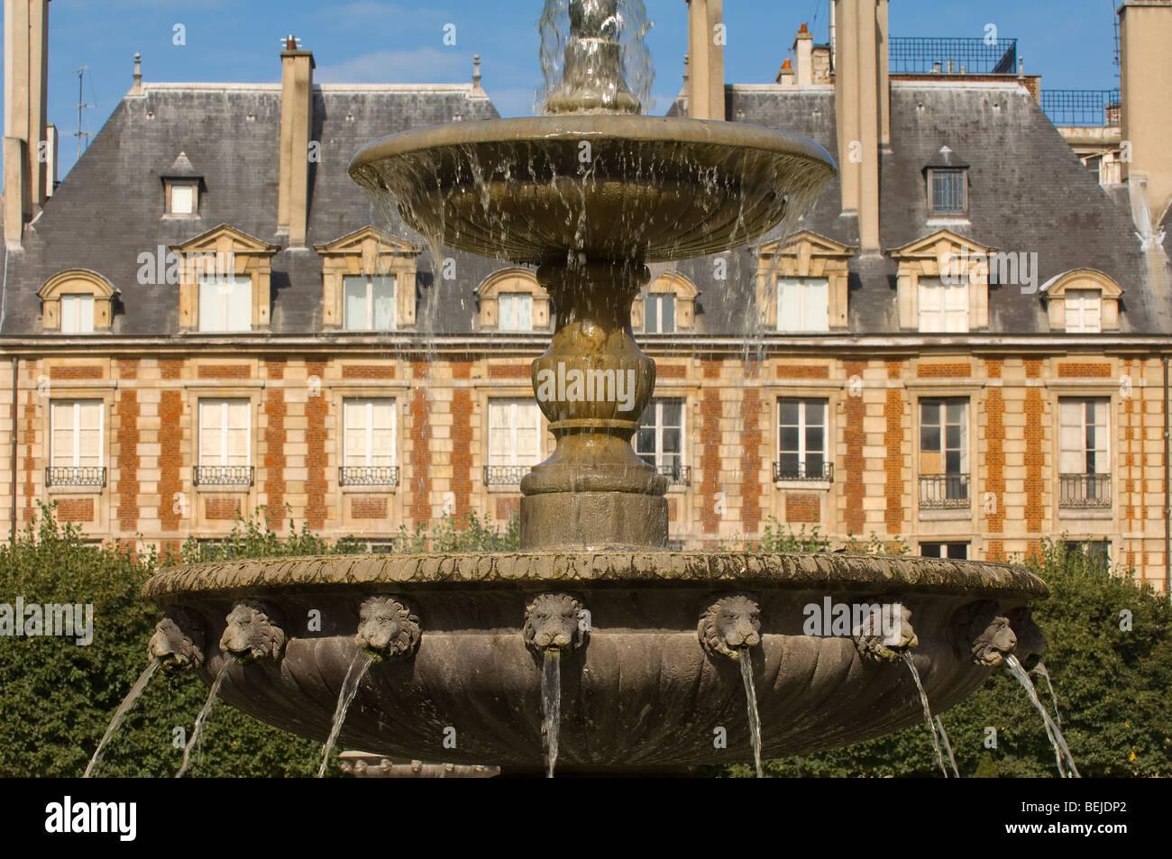 Place des Vosges, Le Marais area, Paris, France - Stock Image