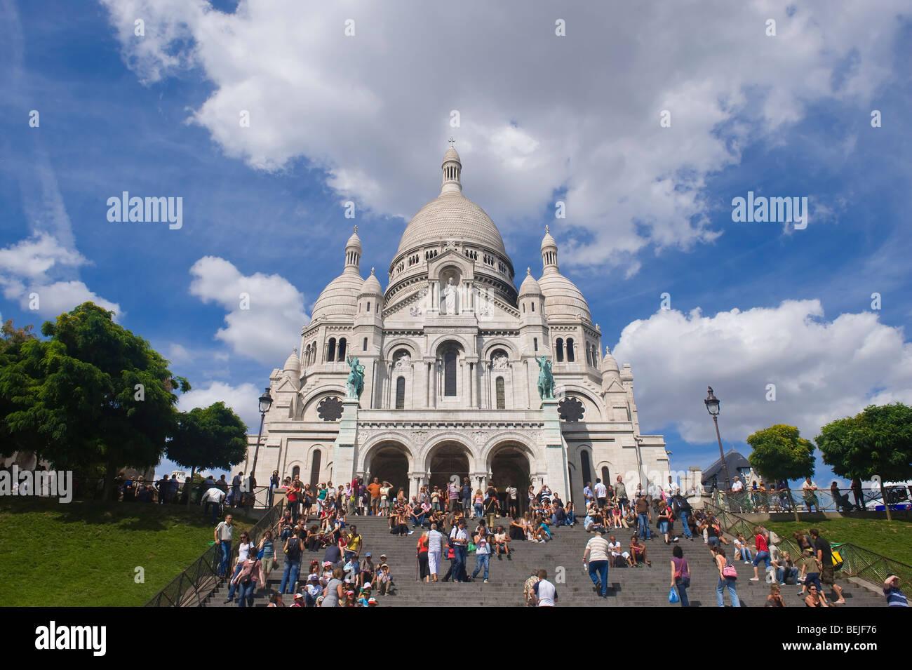 Basilica Sacre Coeur, Bell tower, Montmartre, Paris, France - Stock Image