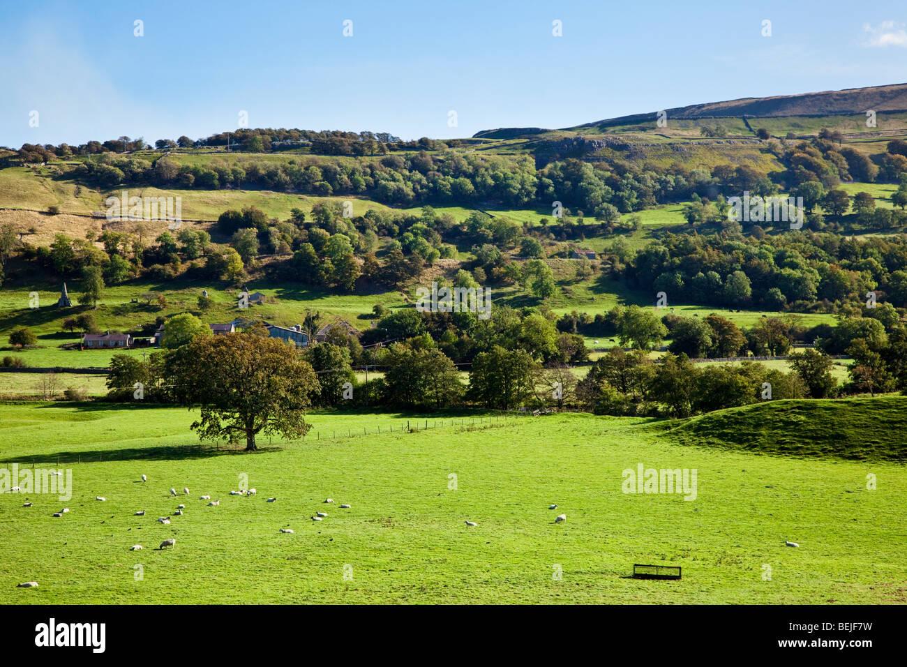 Yorkshire Dales scene in the National Park in autumn Stock Photo