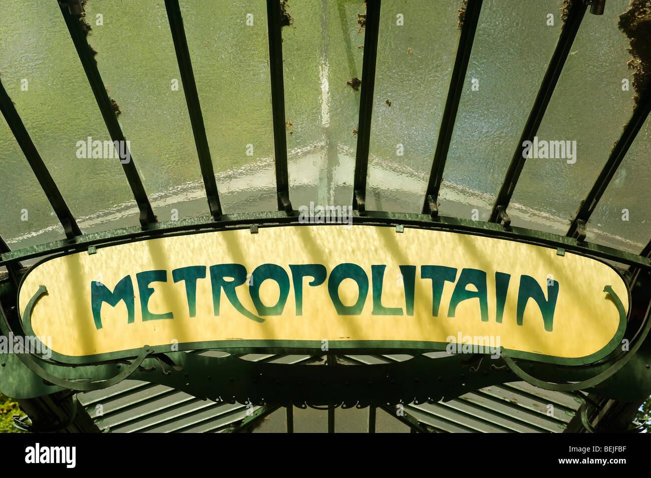 Metro entrance, Montmartre, Paris, France - Stock Image