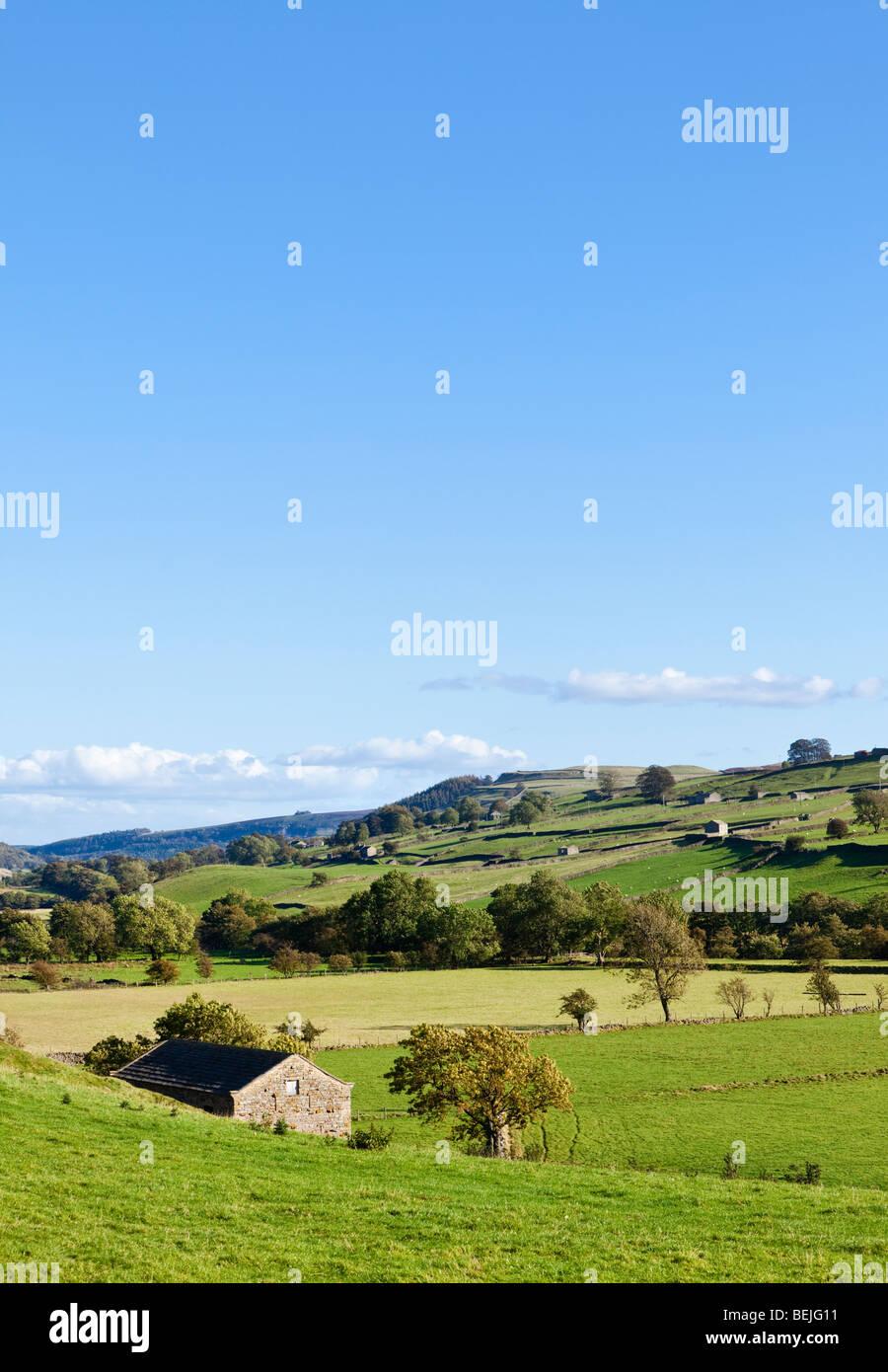 English countryside, Yorkshire Dales, England, UK - Stock Image