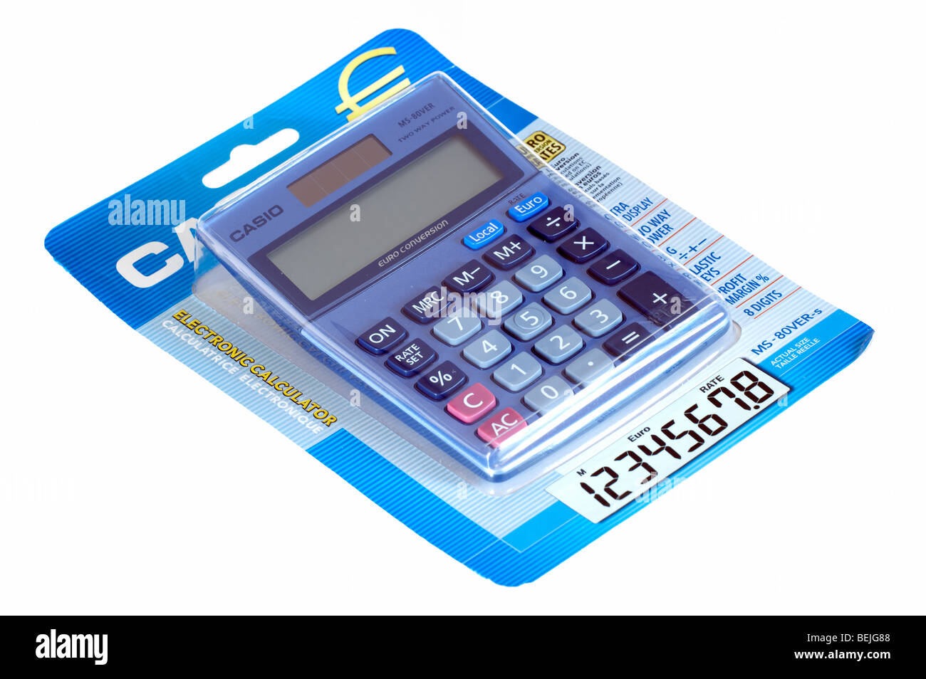 Casio packaged calculator - Stock Image