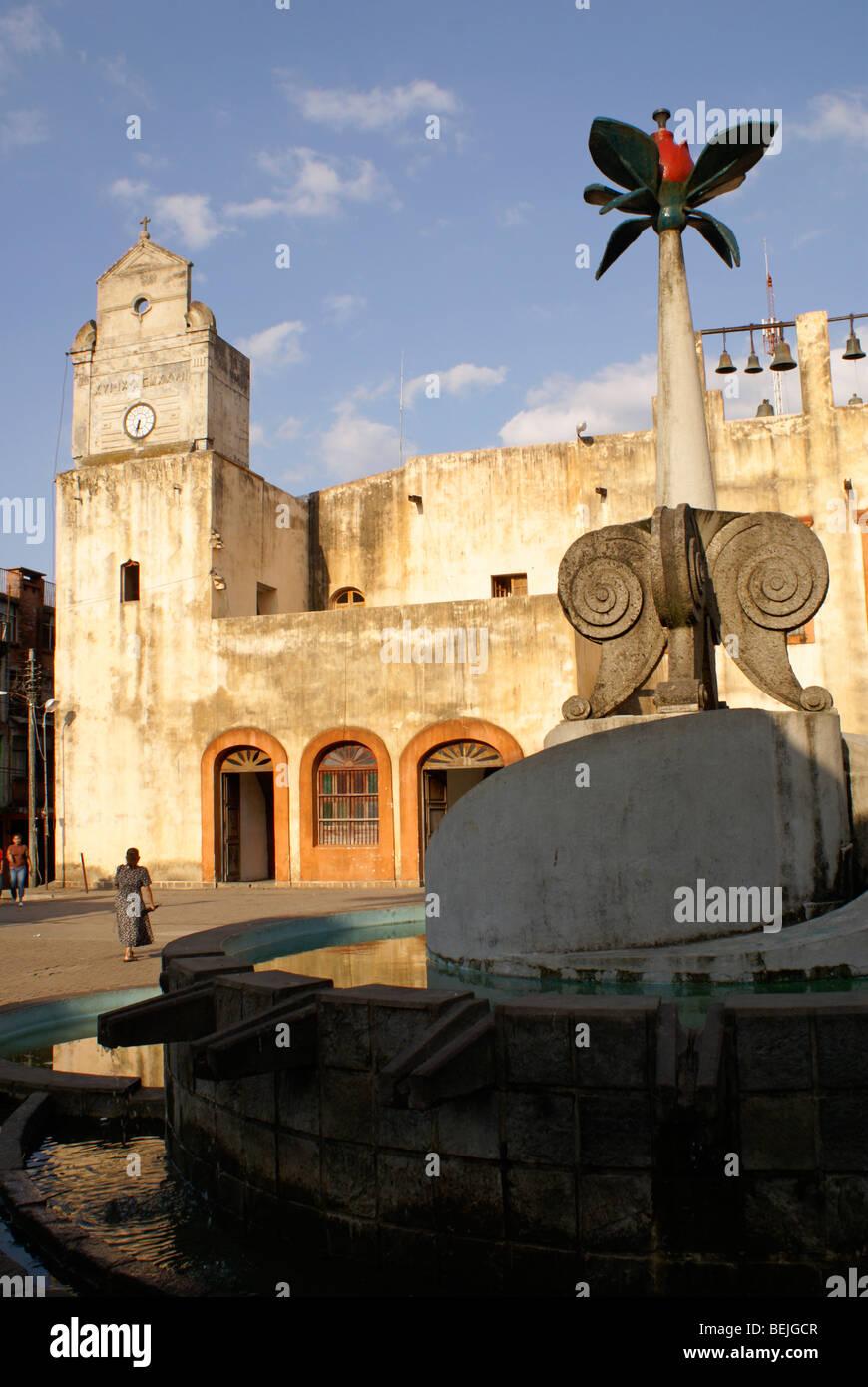 The Convento de San Agustin on the main square in Xilitla, San Luis Potosi state, Mexico - Stock Image