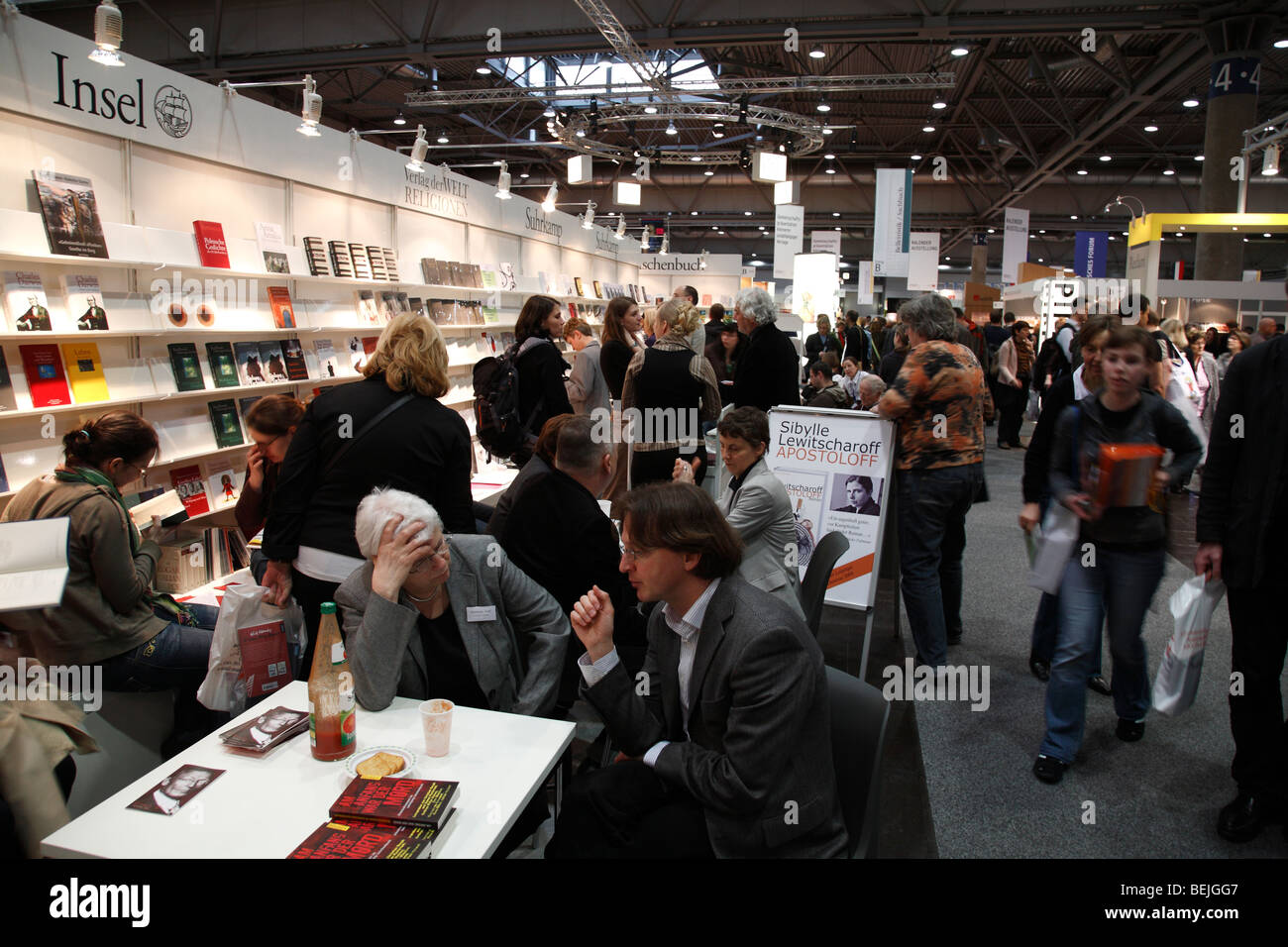 publisher Insel Verlag at the book fair 2009 in Leipzig, Germany - Stock Image