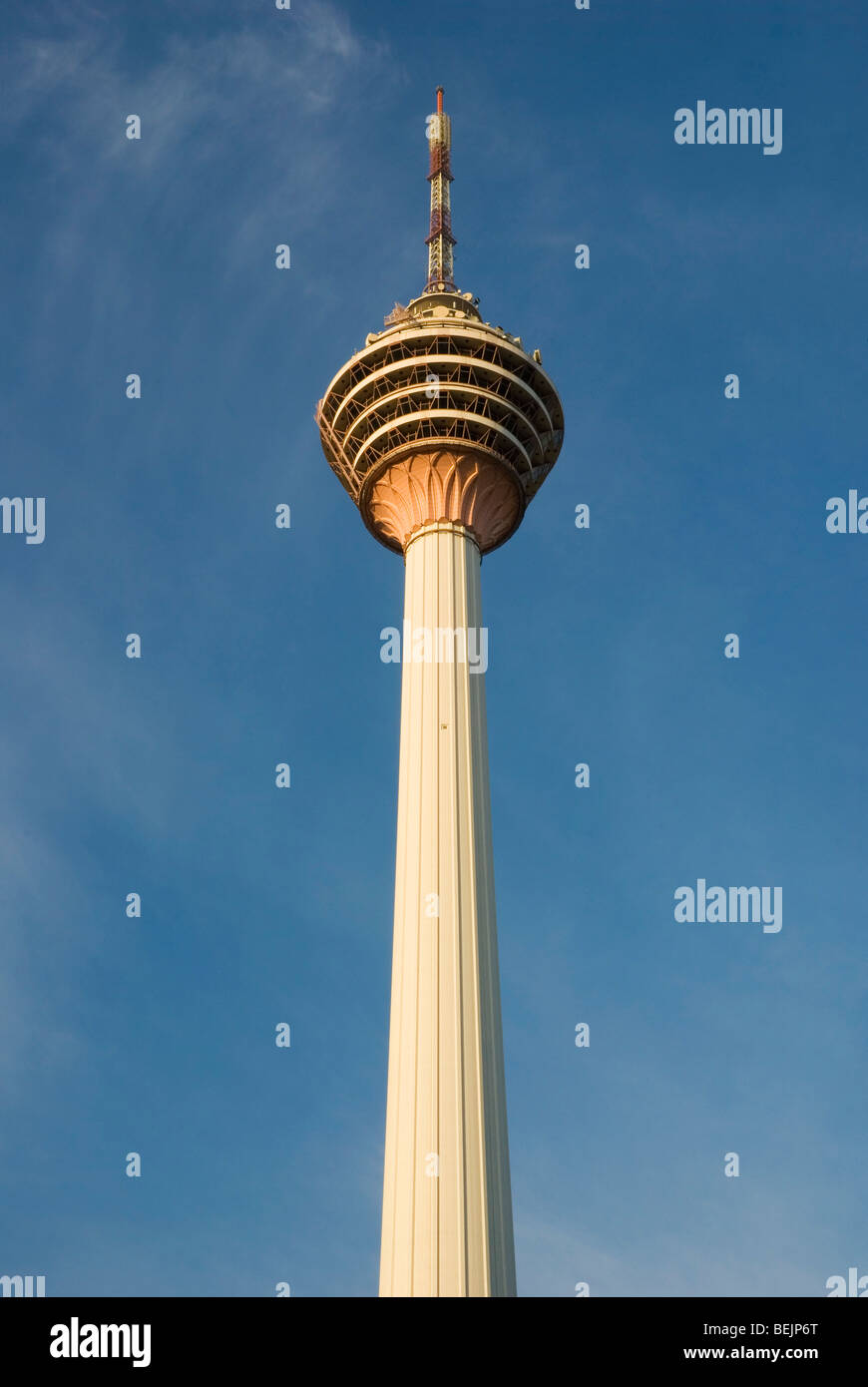 One of the prominent landmarks in Kuala Lumpur, Malaysia - KL Tower. - Stock Image