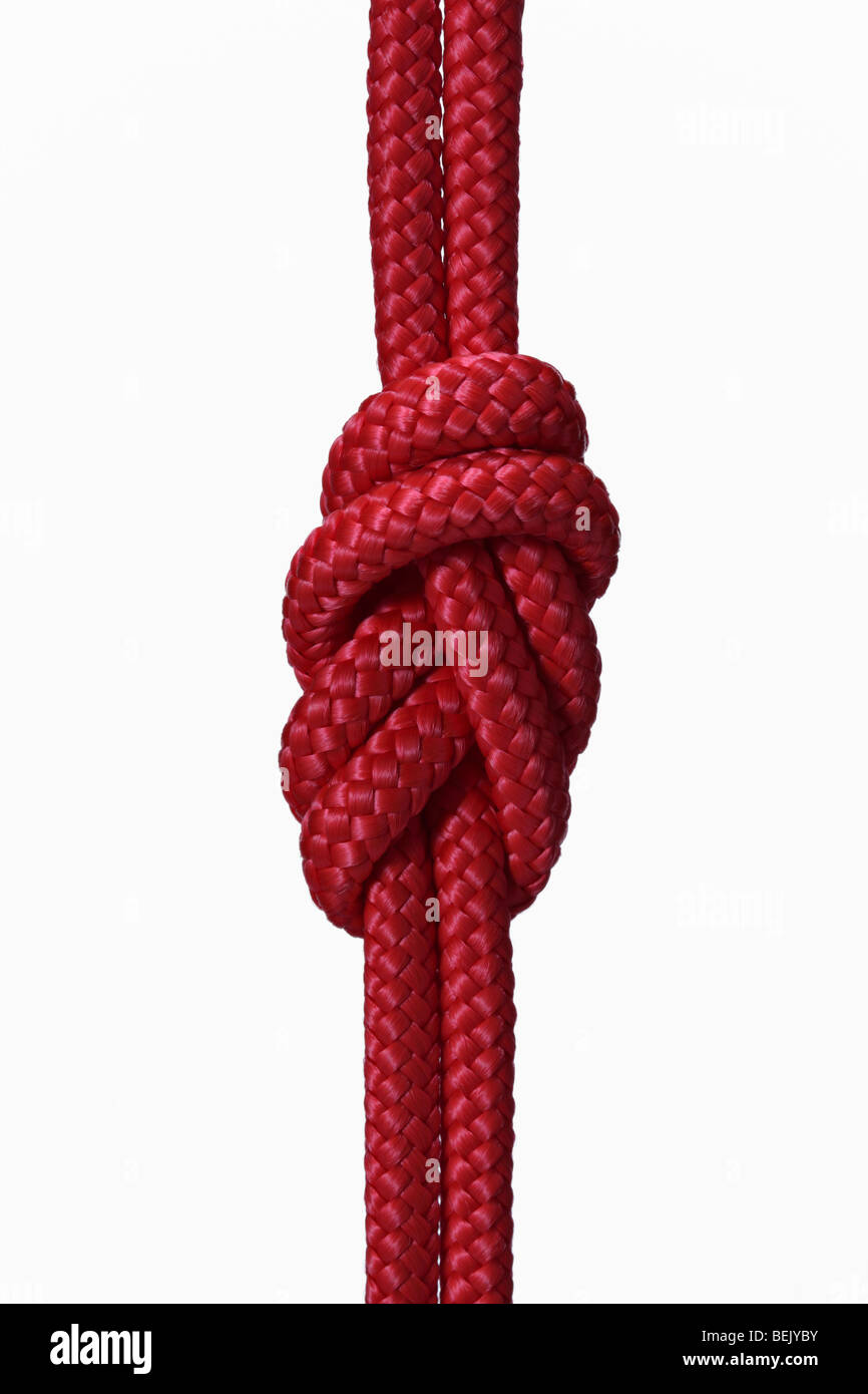 figure of eight knot - Stock Image