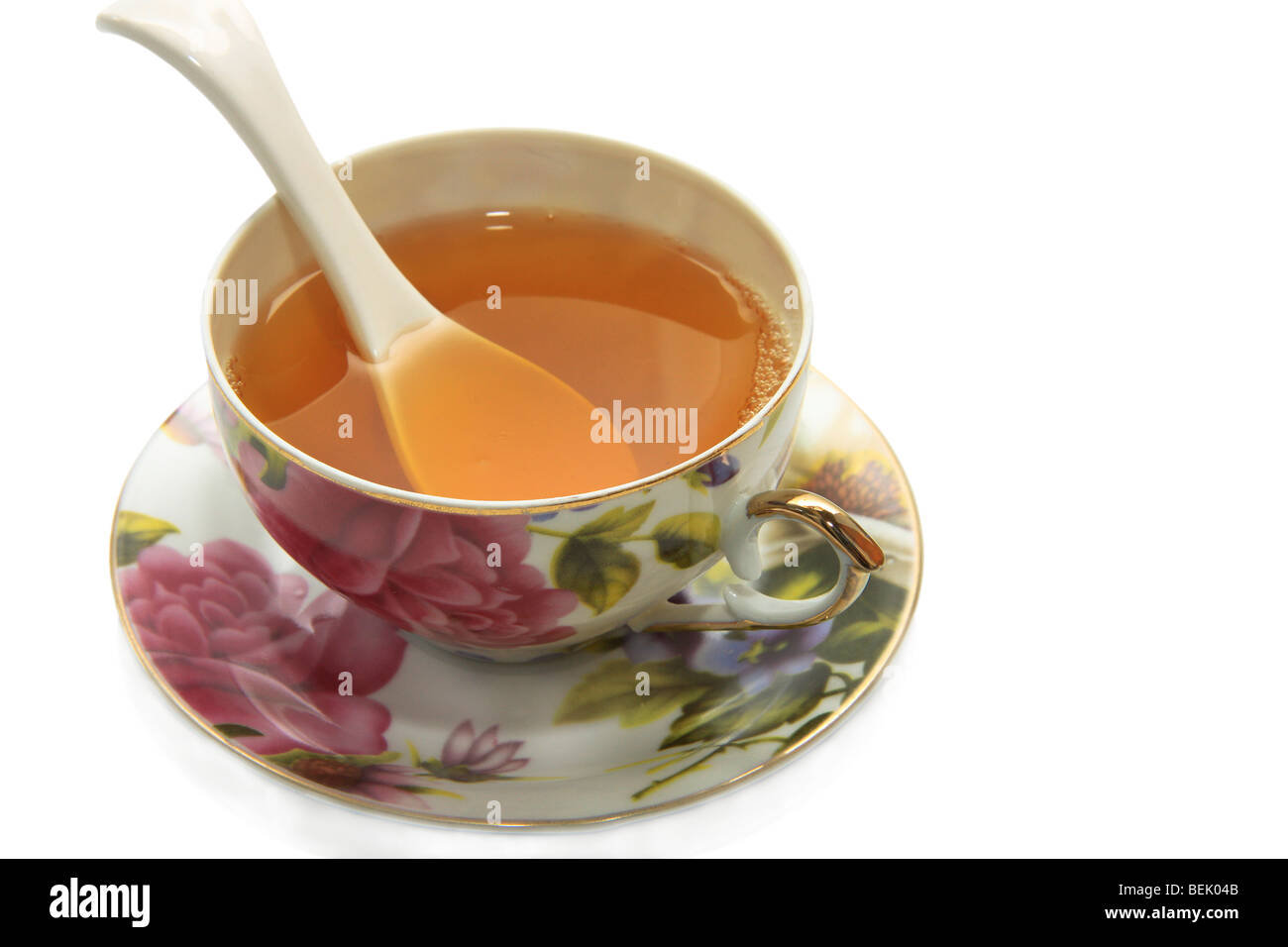cup of green tea  is very useful to health and for dialogue with friends Stock Photo
