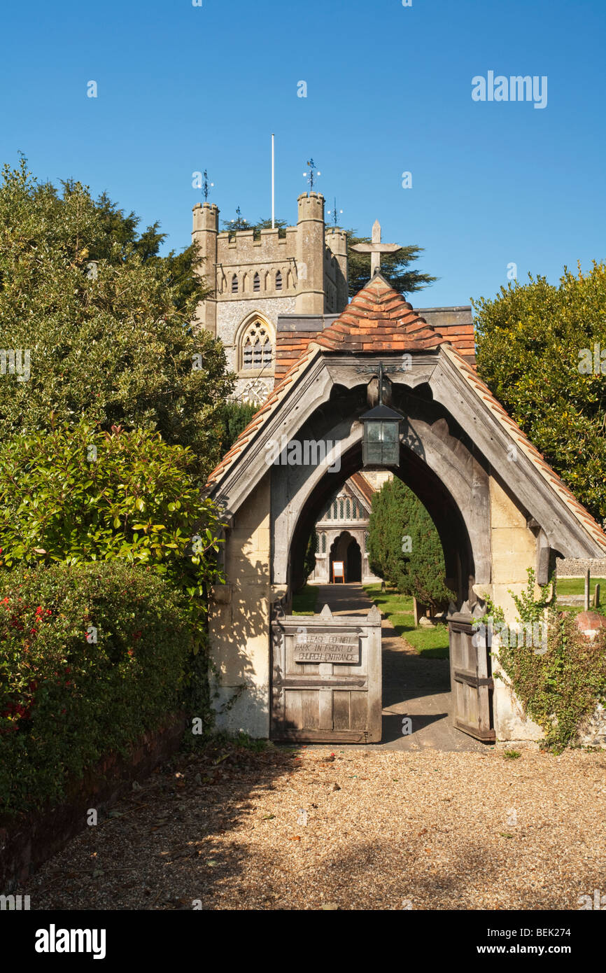 Church of St Mary the Virgin in Hambleden Village near Henley, Oxfordshire, Uk - Stock Image