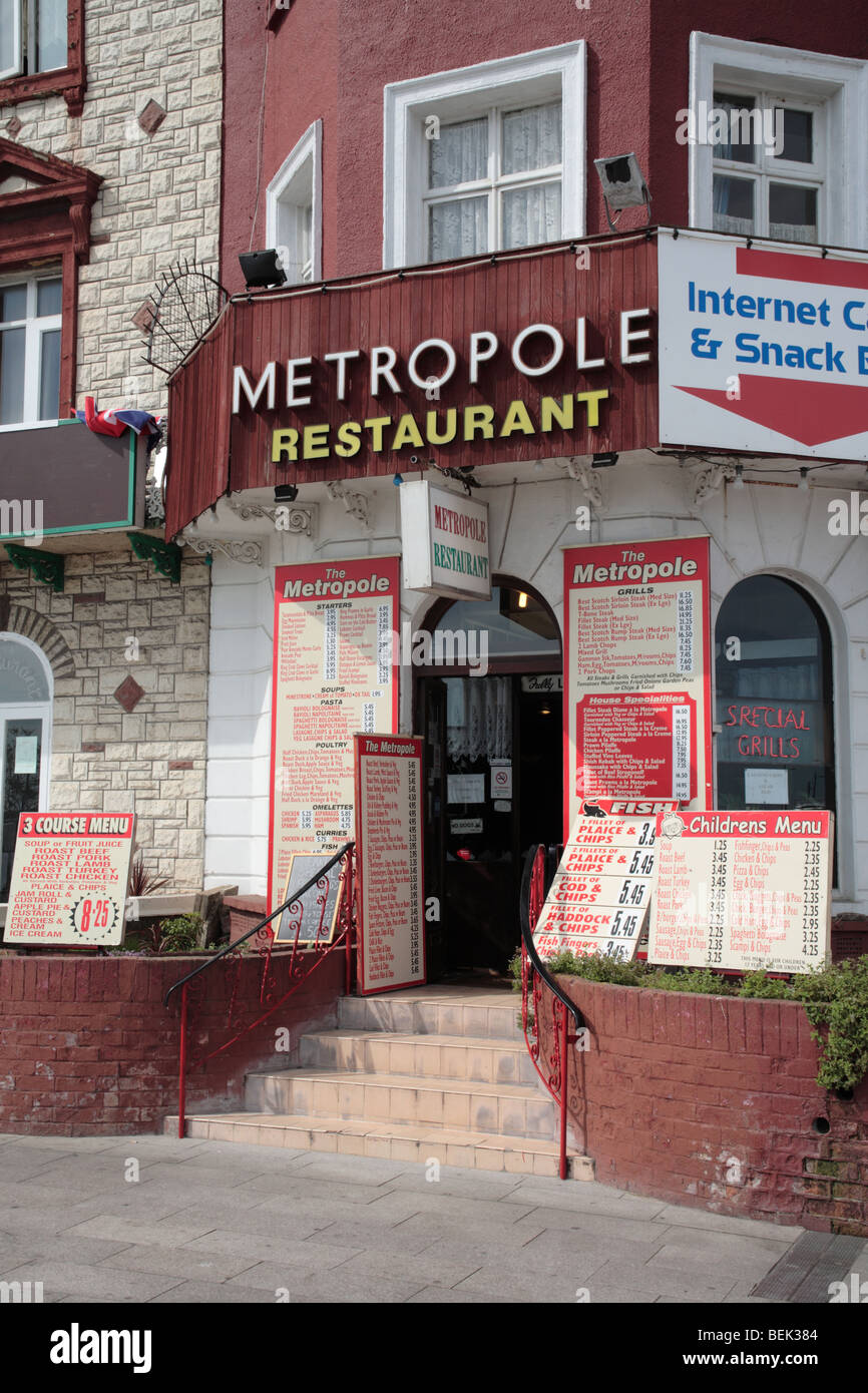 Metropole Restaurant, Marine Parade, Great Yarmouth - Stock Image