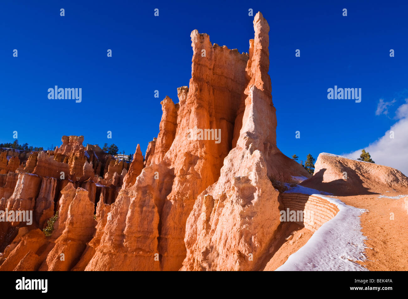 Rock formations along the Queens Garden Trail, Bryce Canyon National Park, Utah - Stock Image