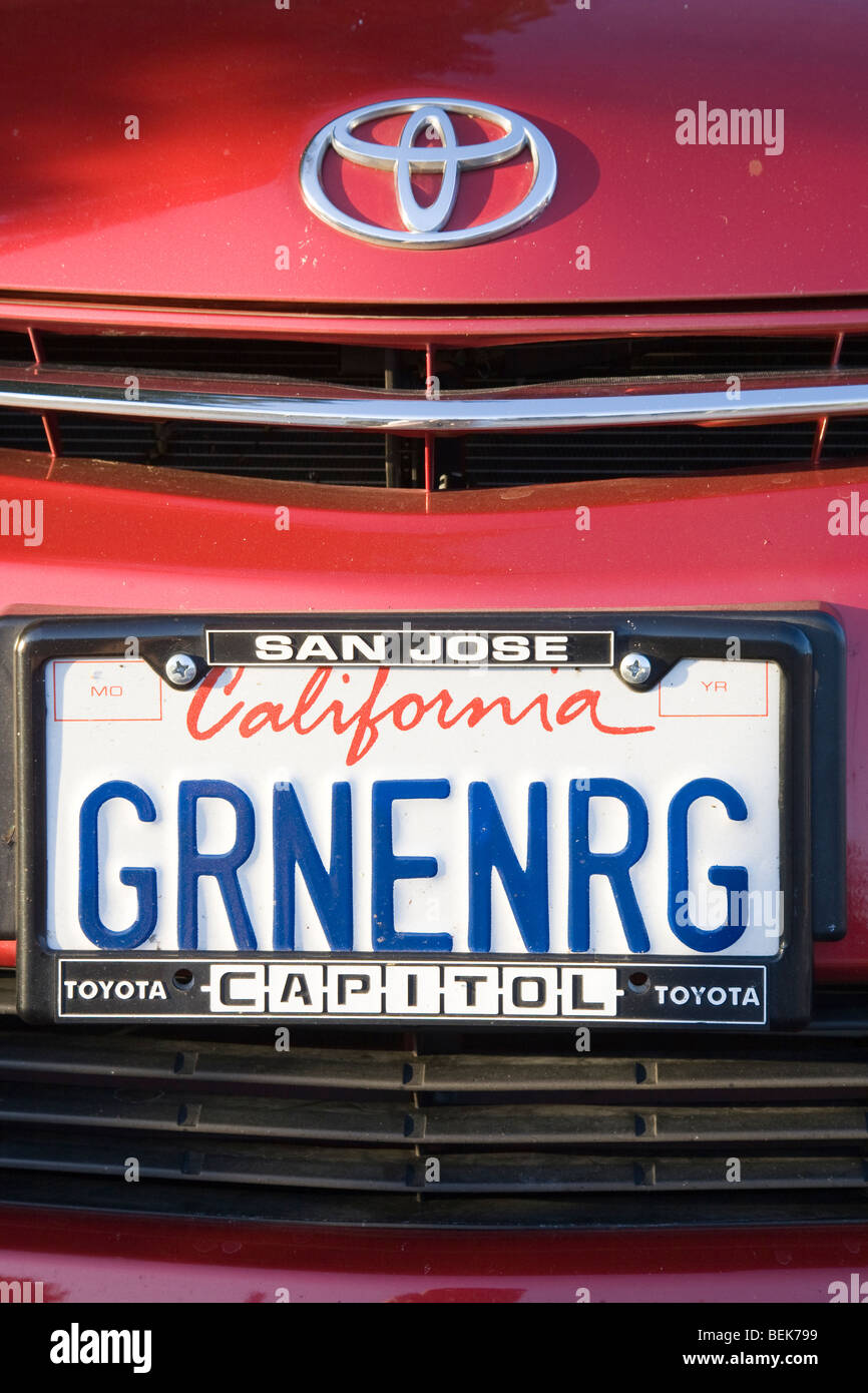 San Jose Toyota >> Grnenrg Green Energy License Plate On Toyota Prius With A