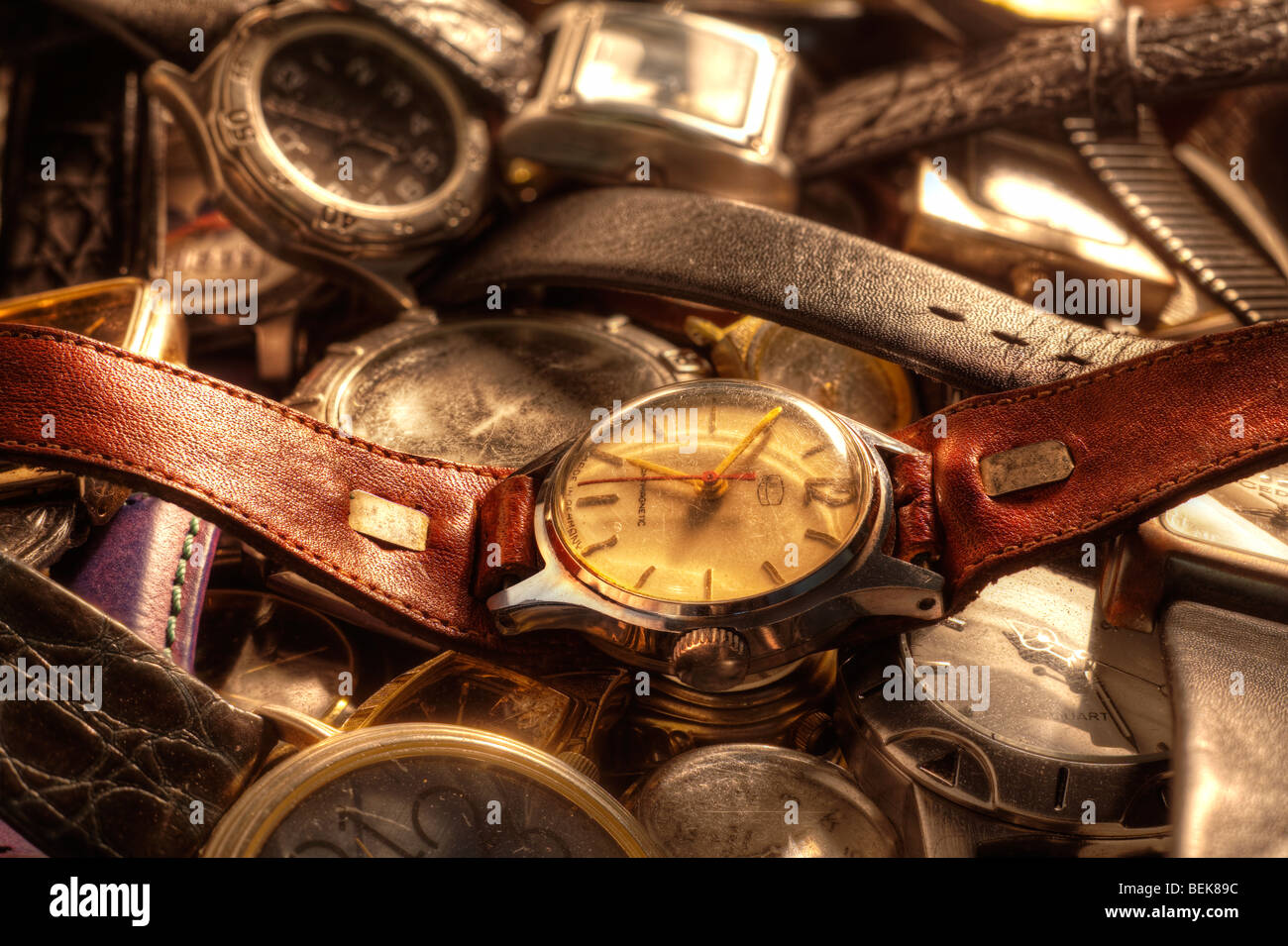 Old watches - Stock Image