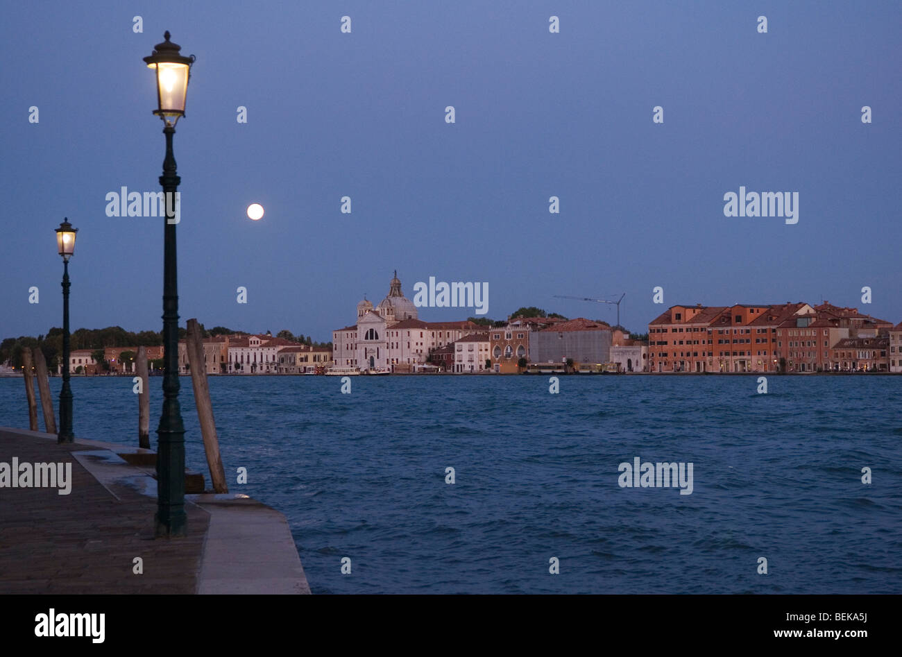 Venice Italy The church of La Giudecca. across the Canale della Giudecca. HOMER SYKES - Stock Image