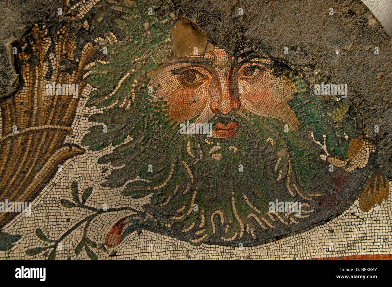 Roman mosaic archaeological museum stock photos roman for Amida house istanbul