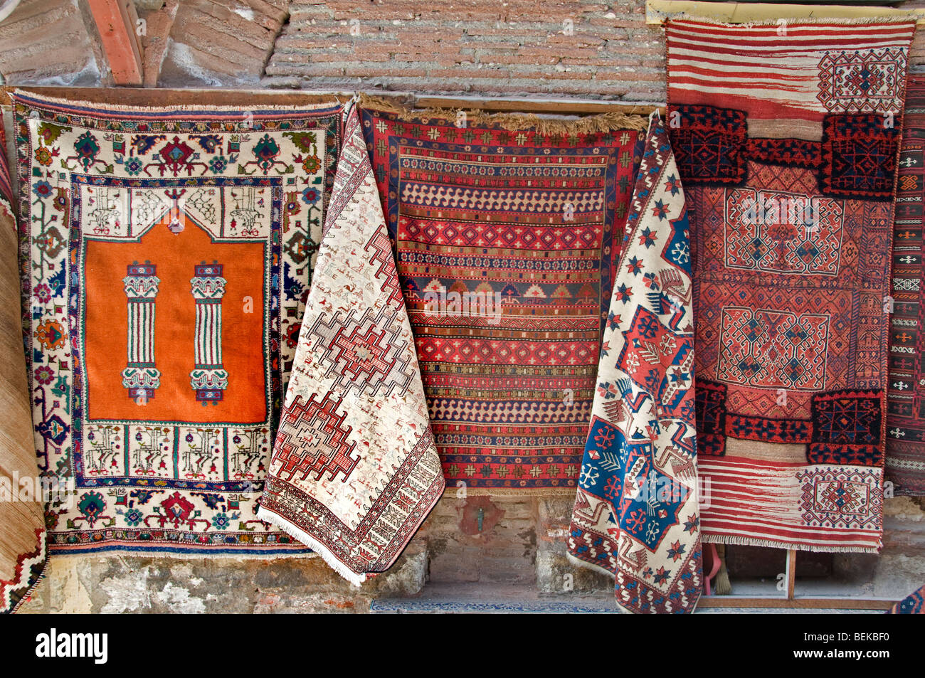 Sultanahmet  Istanbul Turkey carpet carpets shop - Stock Image