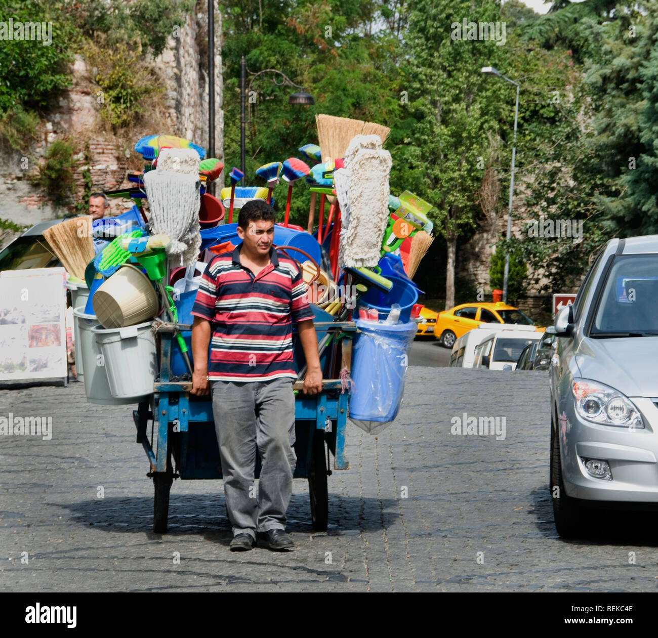 Istanbul Turkey hawking trader peddler hawker sale - Stock Image