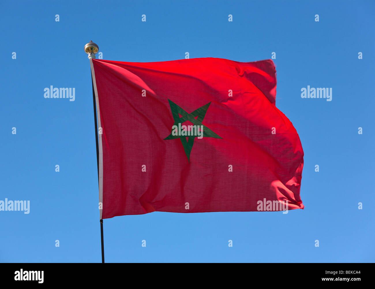 Moroccan flag - Stock Image