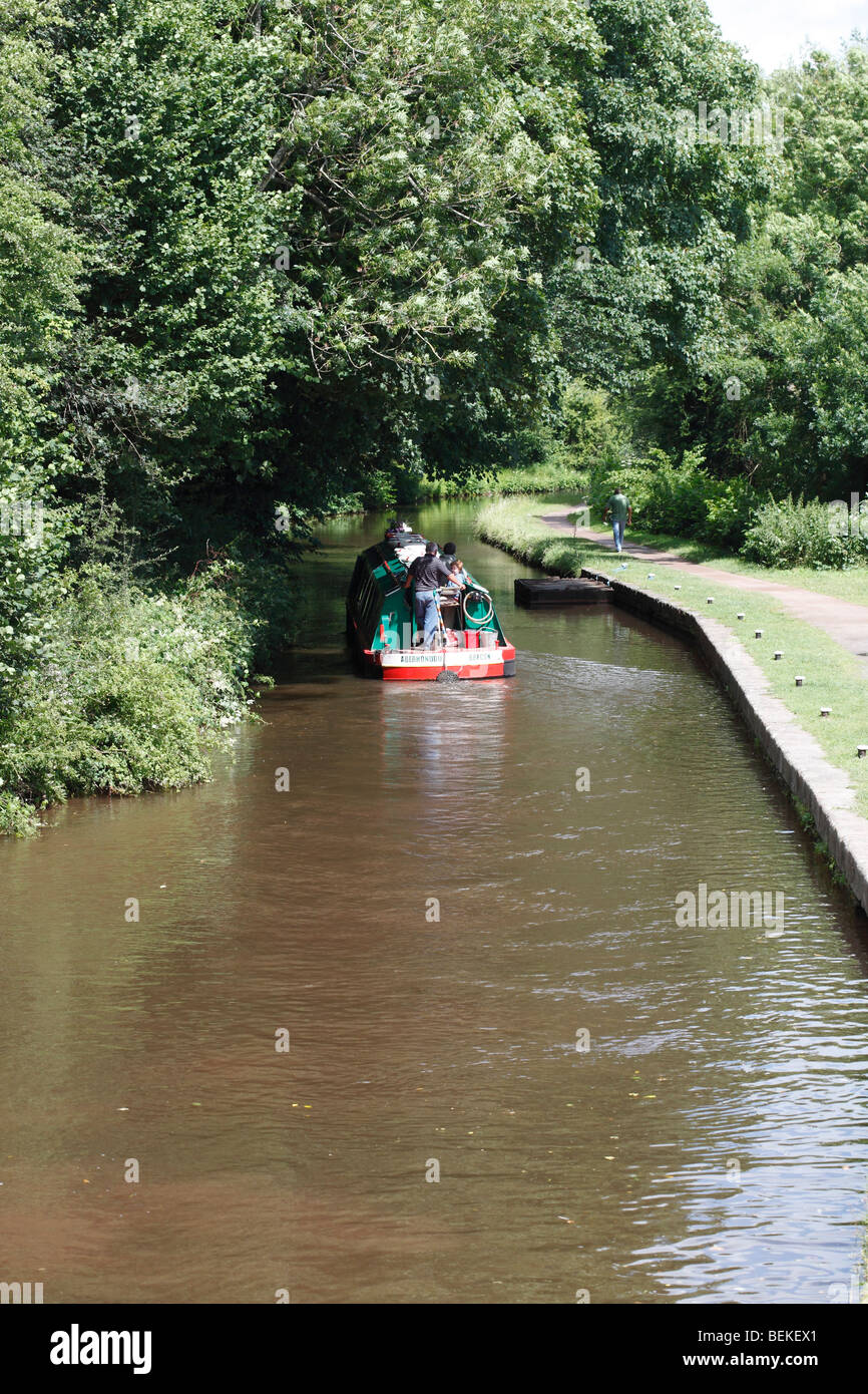 Narrowboat on Brecon canal - Stock Image