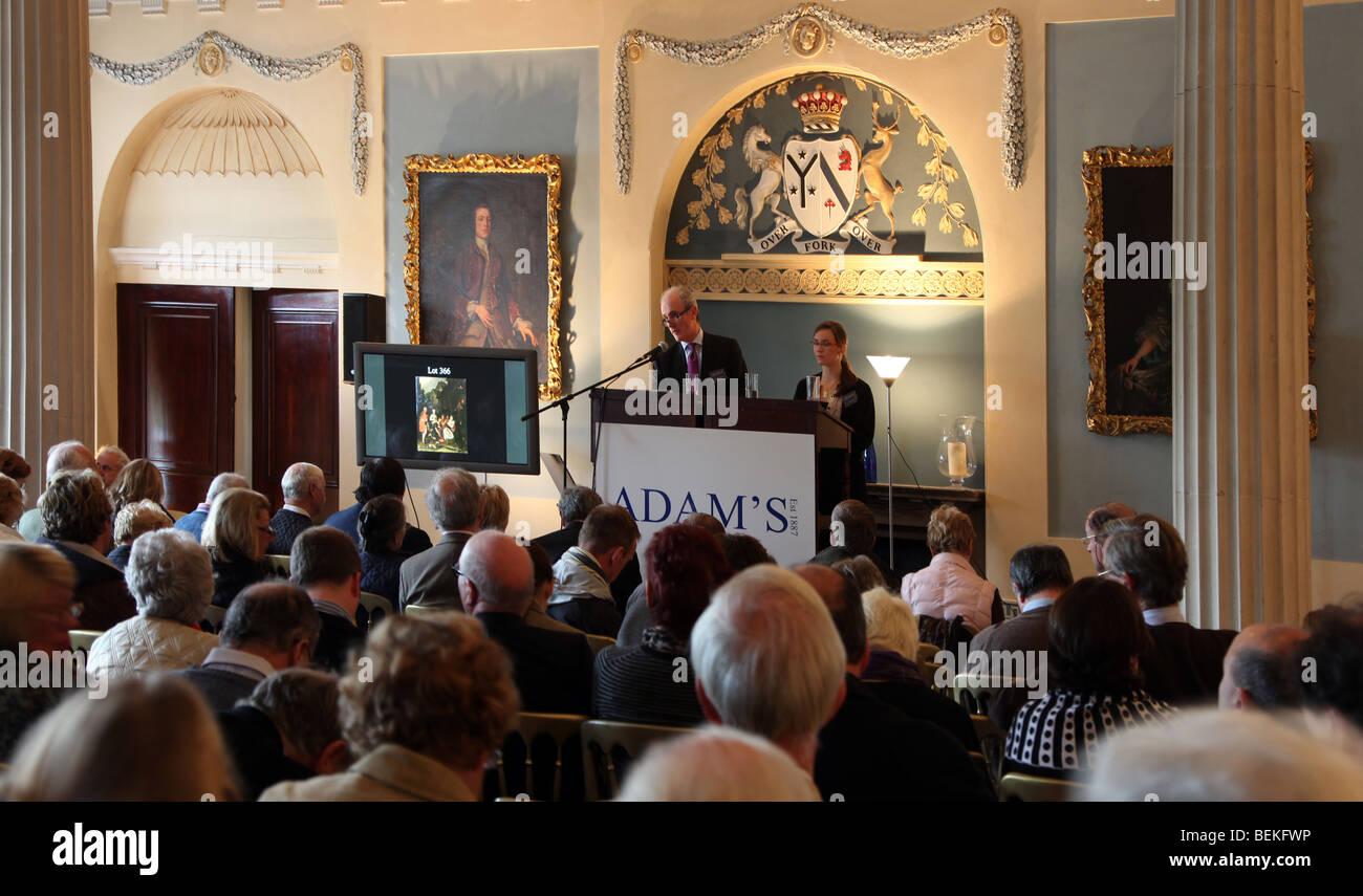 Adam's auction; Slane Castle, Ireland - Stock Image